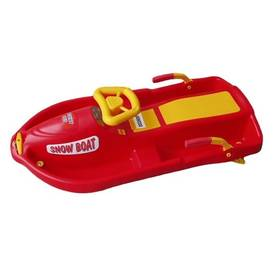 Acra Snow Boat plastové řiditelné červené + Reflexní sada 2 SportTeam (pásek, přívěsek, samolepky) - zelené v hodnotě 58 Kč