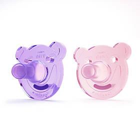 Philips AVENT Soothie 0-3m, 2ks růžové/fialové