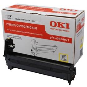 OKI C5850/5950/MC560, 20000 stran (43870021) žlutý