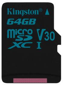 Paměťová karta Kingston Canvas Go! MicroSDXC 64GB UHS-I U3 (90R/45W) (SDCG2/64GBSP)