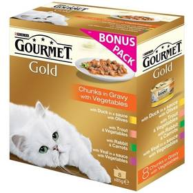 Gourmet Gold kousky se zeleninou ve šťávě Exotic Multipack (8 x 85g)