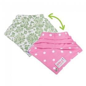 Skibz Doublez Green Floral/Polka Dot Pink bavlna