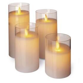 EMOS svíčky, 5x10/12,5/15/17,5cm, bílé, 2x AA, 4 ks (1534227400) (vrácené zboží 8800834660)