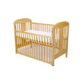 For Baby Miluška stahovací bok borovice Matrace do postýlky For Baby 120x60 cm - bílá (zdarma) + Doprava zdarma