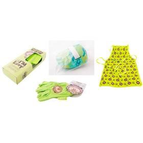 M.A.T. ochranný oděv + sada nářadí pro malé zahradníky zelený