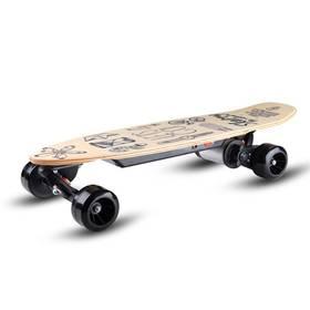 Skateboard elektrický Skatey 150L wood art + Doprava zdarma