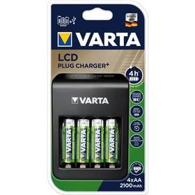 Varta LCD Plug Charger+ 4x AA 2100mAh (57687101441)
