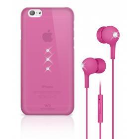 White Diamonds Crystal pro iPhone 6 + sluchátka (WD-7007TRI41) růžový