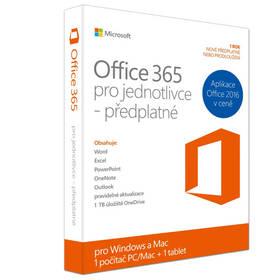 Microsoft Office 365 pro jednotlivce CZ (QQ2-00064) + Doprava zdarma