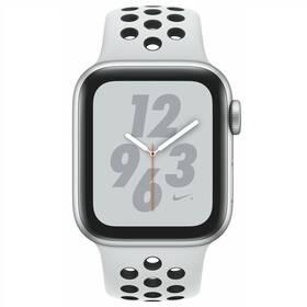 Apple Watch Nike+ Series 4 GPS 40mm pouzdro ze stříbrného hliníku - platinový/černý sportovní řemínek Nike SK verze (MU6H2VR/A)