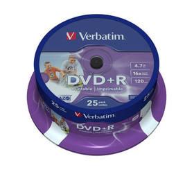 Verbatim DVD+R 4,7GB, 16x, printable, 25-cake (43539)