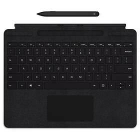 Pouzdro na tablet s klávesnicí Microsoft Surface Pro X Keyboard + Pen bundle, US Layout (QSW-00007) černé