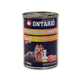 Ontario Adult kuře, karotka a lososový olej 400g