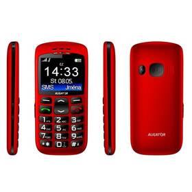 Mobilní telefon Aligator A670 Senior (A670R) červený (vrácené zboží 8800210227)