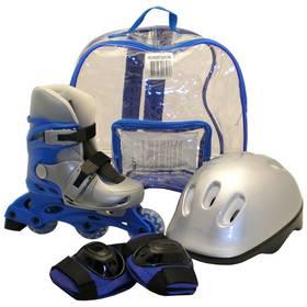 Sada Rulyt brusle + helma + chrániče velikost M, modrá