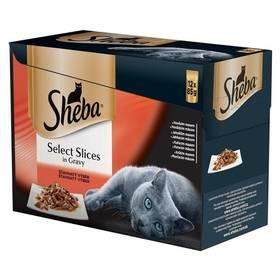 Sheba SELECT SLICES in Gravy Šťavnatý výběr 12pack (12 x 85 g)