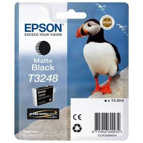 Epson T3248, 14 ml, matná černá (C13T32484010)