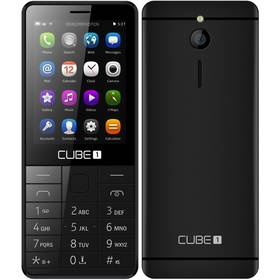 CUBE 1 F300 černý SIM s kreditem T-Mobile 200Kč Twist Online Internet (zdarma)