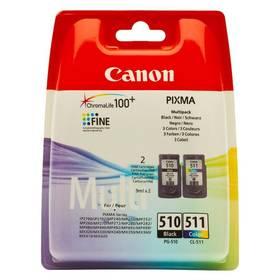 Canon PG-510 / CL-511, 9ml - originální (2970B010) čierna/červená/modrá/žltá