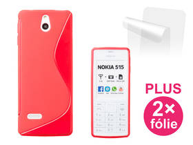 Connect IT pro Nokia 515 + 2ks ochranná fólie (CI-309) červený