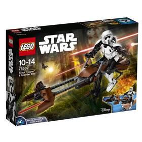 LEGO® CONSTRACTION STAR WARS 75532 Průzkumný voják a speederová motorka