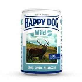 HAPPY DOG Wild Pur - 100% maso zvěřiny 400 g