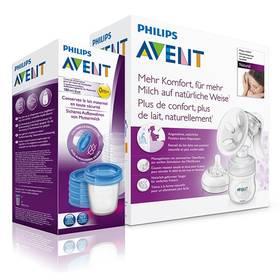 AVENT Natural se zásobníkem 125ml + VIA pohárky 180 ml, 5 ks