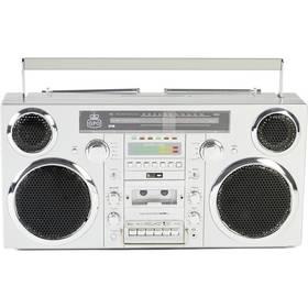 Radiomagnetofon s CD GPO Brooklyn stříbrný