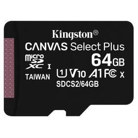 Kingston Canvas Select Plus MicroSDXC 64GB UHS-I U1 (100R/10W) (SDCS2/64GBSP)