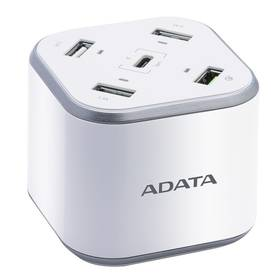 ADATA USB Charging Station, 4x USB, 1x USB-C (ACU0480QCPS-CEUWH) bílá