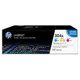 HP 304A, 3x2800 stran, CMY (CF372AM)