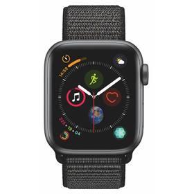 Apple Watch Series 4 GPS 40mm pouzdro z vesmírně šedého hliníku - černý provlékací sportovní řemínek CZ verze (MU672HC/A)