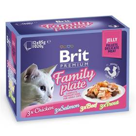 Brit Premium Premium Cat Delicate Fillets in Jelly Dinner Plate 12 x 85g