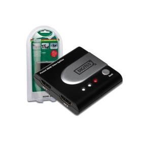 Video splitter Digitus HDMI elektronický 1-> 2 kapesní (DS-41302)