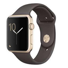 Apple Watch Series 1 42mm pouzdro ze zlatého hliníku – kakaově hnědý sportovní řemínek (MNNN2CN/A) + Doprava zdarma