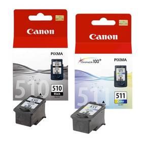 Canon PG-510 / CL-511, 9ml - originální (2970B010) černá/červená/modrá/žlutá