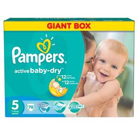 Pampers Active Baby-dry vel.5 Junior, 78ks
