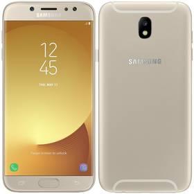 Samsung Galaxy J7 2017 (J730F) (SM-J730FZDDETL) zlatý SIM s kreditem T-Mobile 200Kč Twist Online Internet (zdarma)