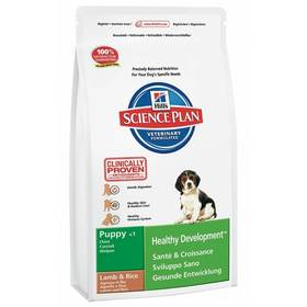 Hill's Canine Puppy Lamb&Rice, 12 kg + Antiparazitní obojek za zvýhodněnou cenu + Doprava zdarma