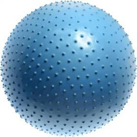 Masážní míč Lifefit gymnastický MASSAGE BALL 55 cm, modrý