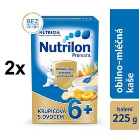 Nutrilon Pronutra krupicová s ovocem, 225g x 2ks