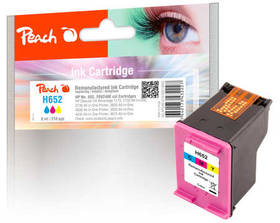 Inkoustová náplň Peach HP 652, (319932) červená/modrá/žlutá