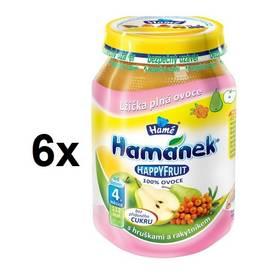 Hamánek HAPPYFRUIT 100% s hruškami a rakytníkem 6x190g