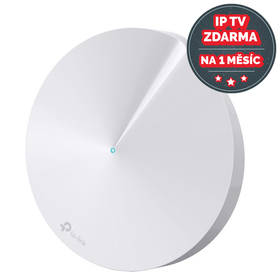 TP-Link Deco M5 AC1300 + IP TV na 1 měsíc ZDARMA (Deco M5(1-pack)) bílý + Doprava zdarma
