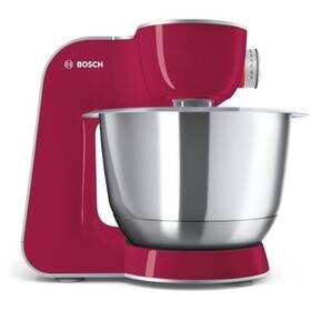 Bosch CreationLine MUM58420 stříbrný/červený + Doprava zdarma