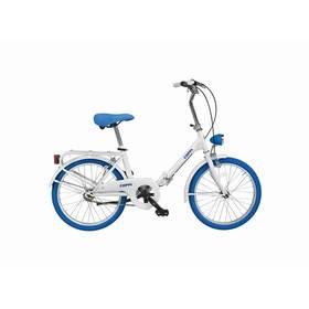 """Skládací kolo Coppi 2016 Glamour, vel. 20"""" - bílá/modrá + Reflexní sada 2 SportTeam (pásek, přívěsek, samolepky) - zelené v hodnotě 58 Kč + Doprava zdarma"""