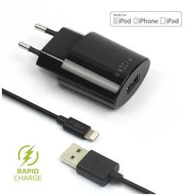 FIXED 1x USB, 2,4A + Lightning kabel (FIXC-UL-BK) černá