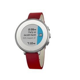 Pebble Time Round Smartwatch, 14mm pásek (60100053) stříbrné/červené Dooble KIDS ADC Blacfire (zdarma) + Doprava zdarma