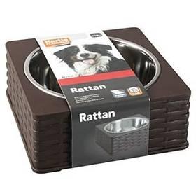 Karlie nerez v plastovém stojánku Rattan Single 850 ml