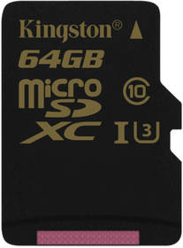 Kingston MicroSDXC 64GB UHS-I U3 (90R/45W) (SDCG/64GBSP) černá